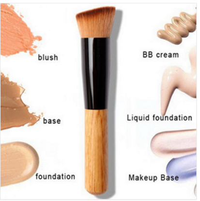 Flat angled makeup brush