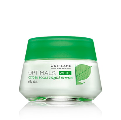 Oxygen Boost night cream for oily skin