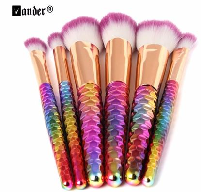 Rainbow Spiral Handle Makeup Brush Set