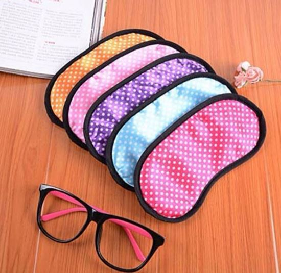 1 PC Dotted Colorful Sleeping Mask